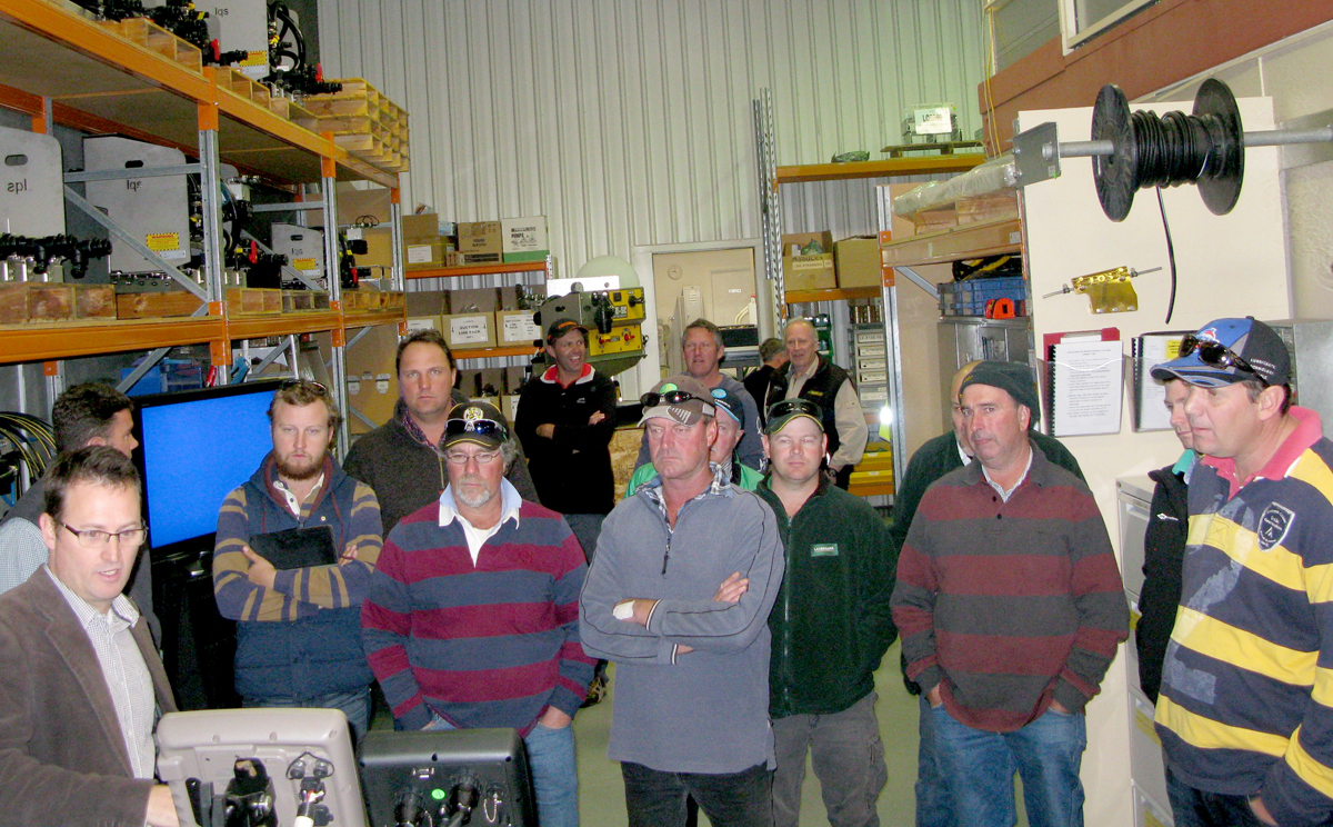 Nathan Sydes & Neville Arrentz from Landmark Manangatang - Ouyen brought along 18 growers.