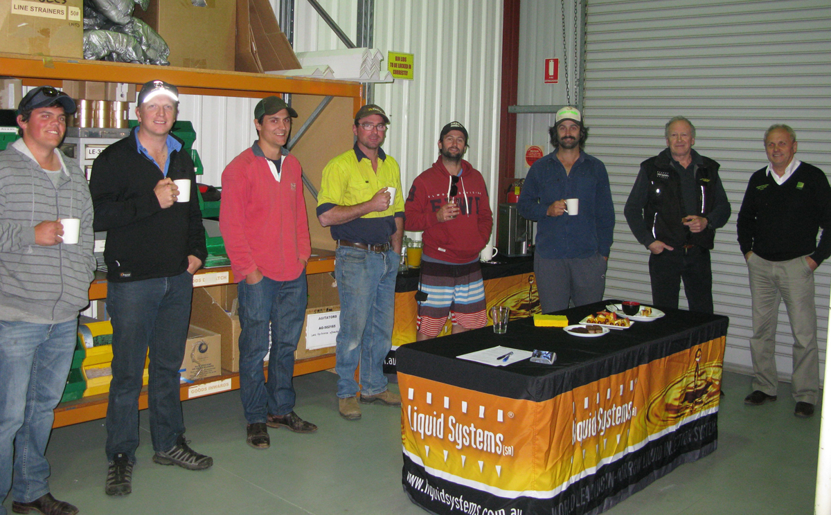 Dean Fielke from RMGH Dealership brought along 6 growers from the Loxton , Mallee Area.