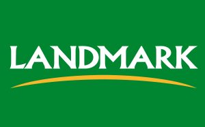 Landmark logo on green